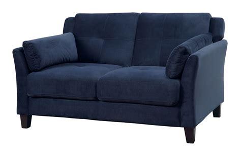 Navy Loveseat ysabel navy loveseat cm6716nv lv furniture of america