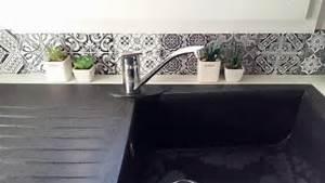 Carreaux De Ciment Autocollant : pose credence meilleures images d 39 inspiration pour votre ~ Premium-room.com Idées de Décoration