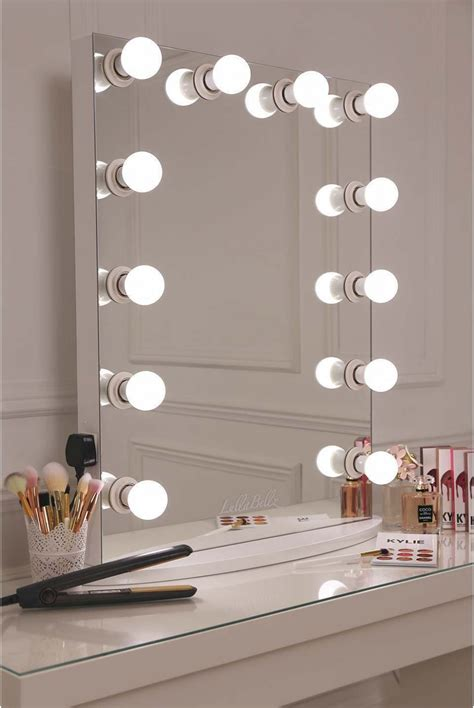 mirror with light bulbs glow vanity mirror with led bulbs lullabellz