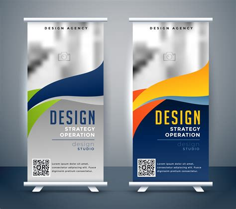 abstract roll  banner standee design