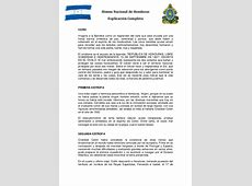 Material de Estudio del Himno Nacional de Honduras