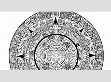 Pinto Dibujos Calendario Azteca para colorear
