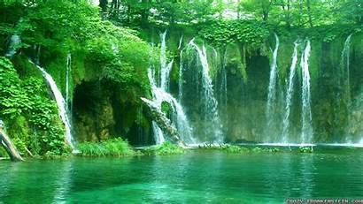 Summer Scenes Wallpapers Waterfall Scene Crazy Resolution