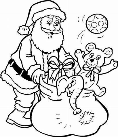 Santa Christmas Claus Drawings Coloring Pages Tweet
