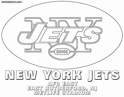 Coloring Pages Nfl Printable Logos Football Jets
