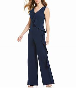 Size Chart Antonio Melani Ruffle Front Jumpsuit Dillards