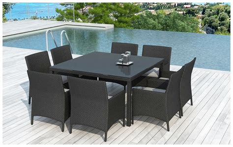 Table Et Chaise De Jardin by Table Et Chaises D Ext 233 Rieur En R 233 Sine 8 Places Jardin