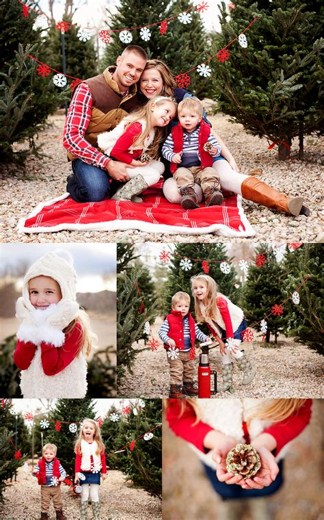 a very merry session make garland and hang on the trees in the backyard for christmas sessions