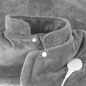 Vitalmaxx Cuscino Termico Cervicale & schiena 100 W in Grigio eBay