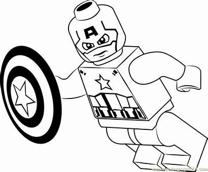 Coloring Lego Pages Captain America Sheets Coloringpages101
