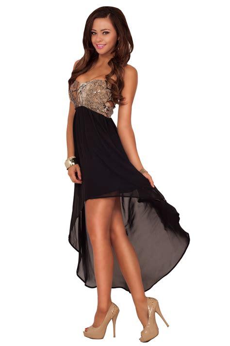 Hot Strapless Sweetheart Sheer High Low Hem Peekaboo Formal Evening Party Dress ...