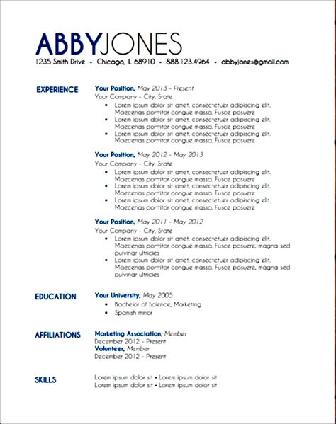 Layouts Of Resumes by Modern Resume Layout Free Sles Exles Format