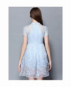 baby blue lace short wedding guest dress gemgrace With lace dress for wedding guest