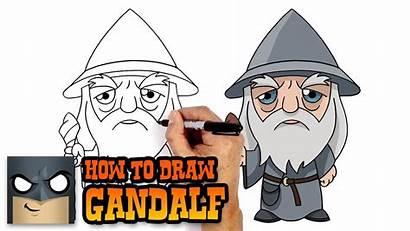 Draw Gandalf Lord Rings Drawings Tutorial Leader