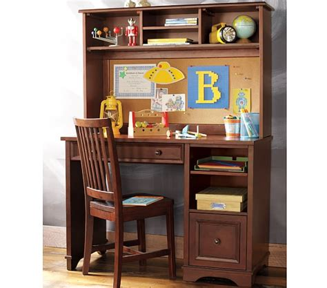 kids desk with hutch fillmore desk large hutch pottery barn kids