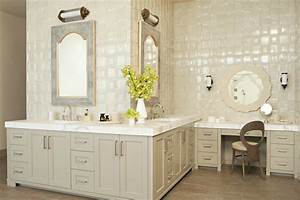 light taupe vanity eclectic bathroom taylor borsari With best brand of paint for kitchen cabinets with home goods bathroom wall art