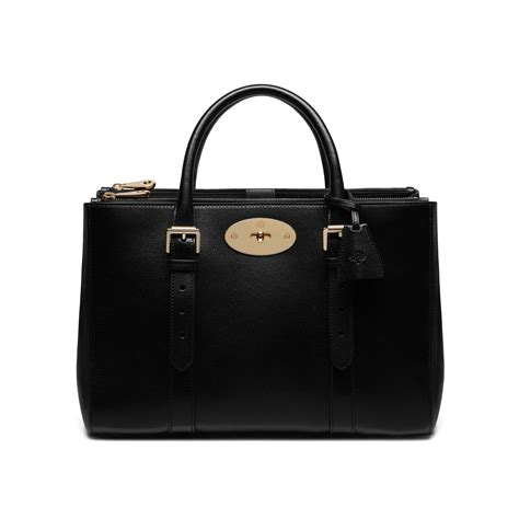 6000 x 6000 www.lyst.com.au. Lyst - Mulberry Bayswater Double Zip Tote Bag  in Black b6c84d7998a05