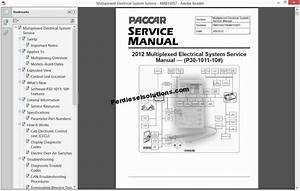 Paccar Multiplexed Electrical System Service Manuals Pdf