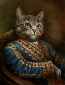 cat painting royal cats