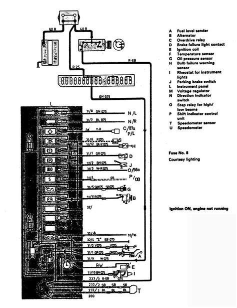 1988 Volvo 240 Wiring Diagram by Volvo 244 1988 Wiring Diagrams Instrumentation