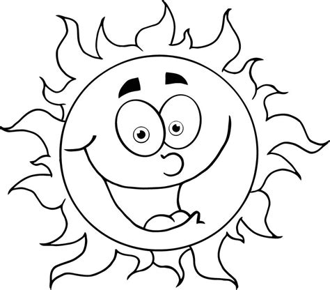 colouring  cartoon sun  kids coloring point