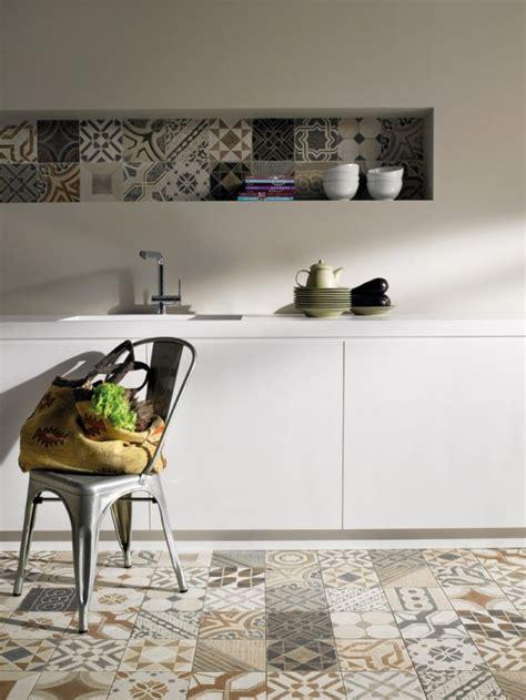 sol vinyle cuisine coup de projecteur sur les carreaux de ciment comment