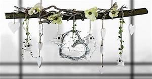 Fensterdeko Zum Aufhängen : ast aus buchenholz zum aufh ngen fr hlingshaft de von creatina deko auf deko ~ Frokenaadalensverden.com Haus und Dekorationen