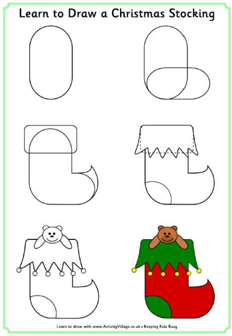 christmas pictures step by step learn to draw a