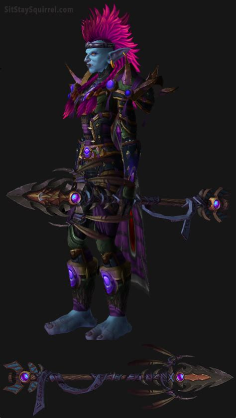 transmog hunter troll wow female survival warcraft sets hunters legion artifact goblin purple gear cool workouts leather blood cacadores elf