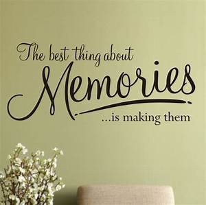 Memories wall art sticker - WA076X