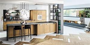 Cuisine Bois Clair : cuisine bois moderne truro ch ne massif teint ~ Melissatoandfro.com Idées de Décoration