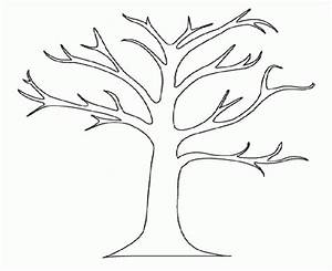 Winter Tree Coloring Page - Coloring Home