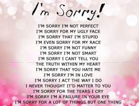 I M Sorry Love Quotes For Her Custom Love Quotes For Her Saying Sorry  Saying Sorry To A Friend Quotes
