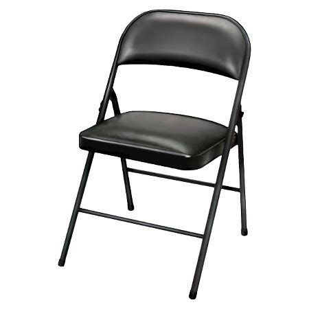 folding chair vinyl padded black plastic dev 174 target
