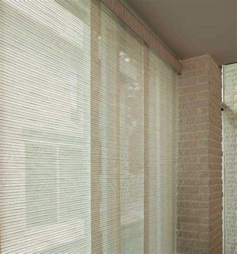 levolor 174 panel track blinds lemongrass stripe tweed rattan