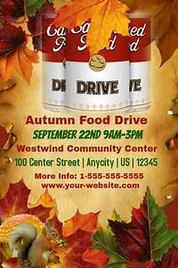 Small Flyer Size Autumn Food Drive Template Postermywall