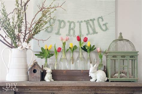 spring mantel decorating diy show  diy decorating
