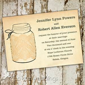 rustic wedding invitations lace jars rustic wedding invitations iwi261 wedding invitations
