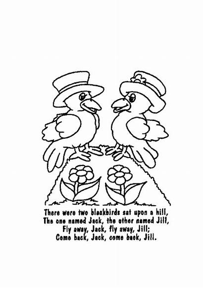 Nursery Rhymes Coloring Printable Draw Sheets Activity