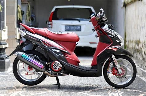 Modifikasi Mio J Merah by Modifikasi Mio Soul Merah Modifikasi Motor Kawasaki