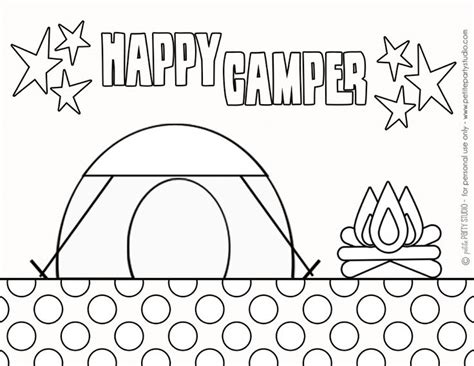 printable camping coloring page  petite party studio party camping pinterest
