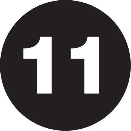 circle  black number labels