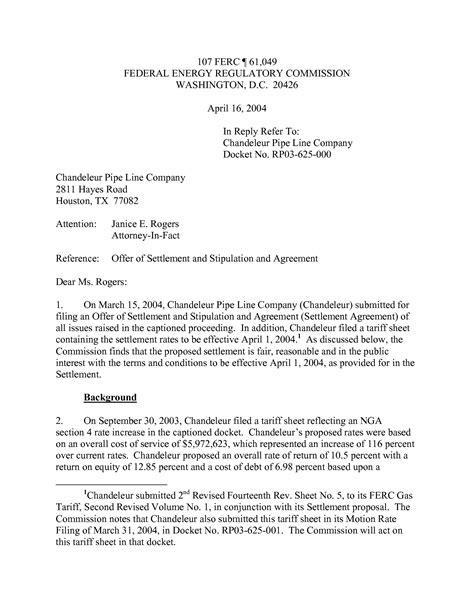 legal settlement letter template