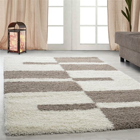 Tappeti Beige by Tappeti Shaggy Shaggy Strisce Gray Green Rosso Beige