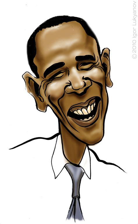 smiling barrack obama caricature