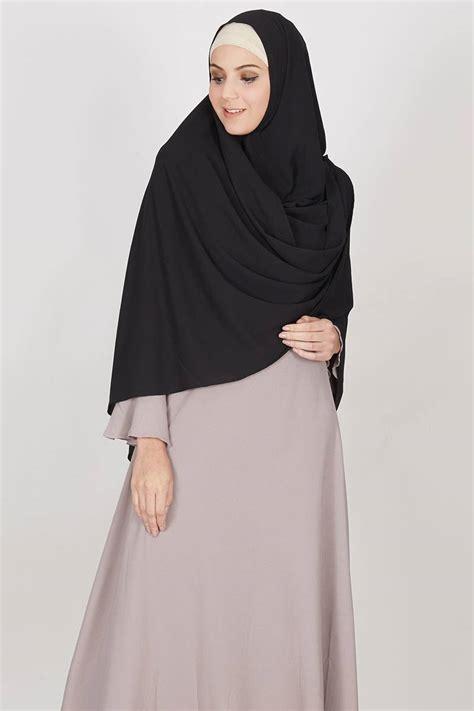 sell gaia khimar black hijab essential hijabenkacom