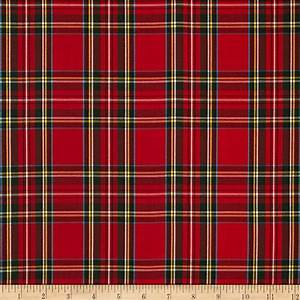 Kaufman House of Wales Lawn Plaid Red - Discount Designer