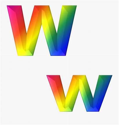 Rainbow Alphabet Letters Clipart Letter 3d Abc