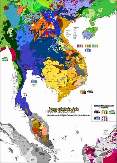 Languages Asia Southeast Map South Language East
