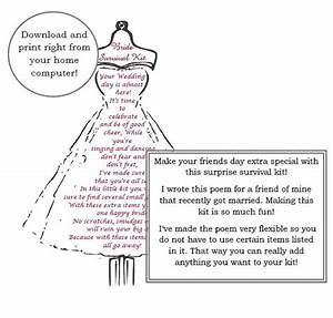 Dress form bride survival kit poem wedding gift by for Wedding dress poem